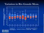 variation in rio grande meas