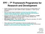 fp7 7 th framework programme for research and development