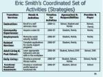 eric smith s coordinated set of activities strategies