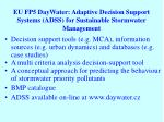 eu fp5 daywater adaptive decision support systems adss for sustainable stormwater management