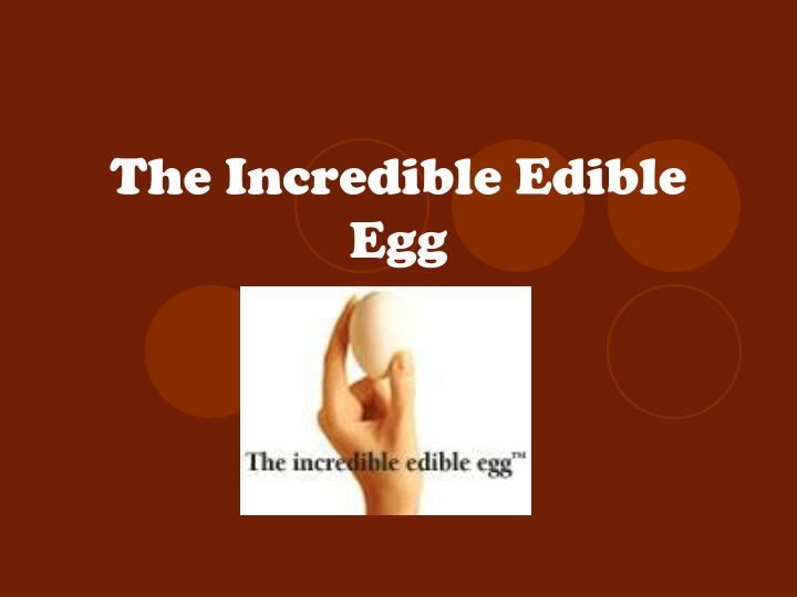 PPT - The Incredible Edible Egg PowerPoint Presentation - ID