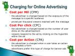charging for online advertising