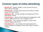 common types of online advertising