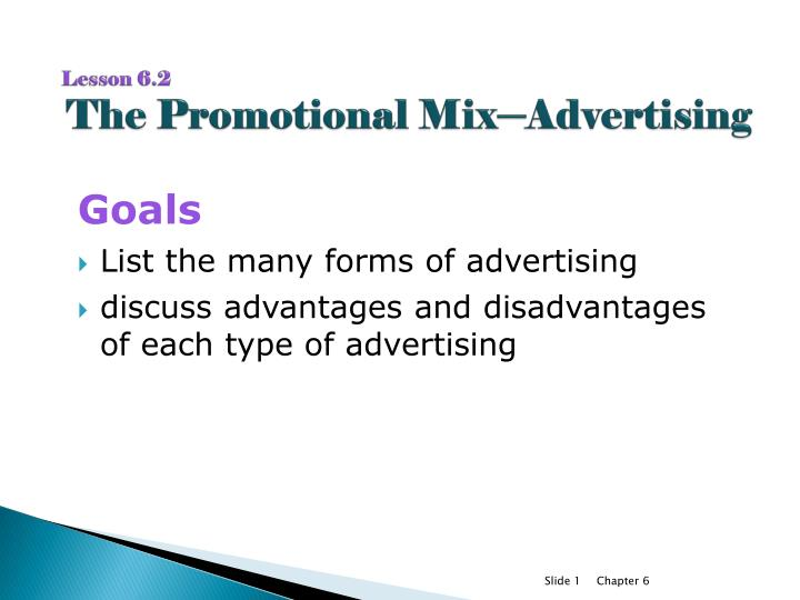 lesson 6 2 the promotional mix advertising n.