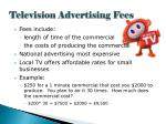 television advertising fees