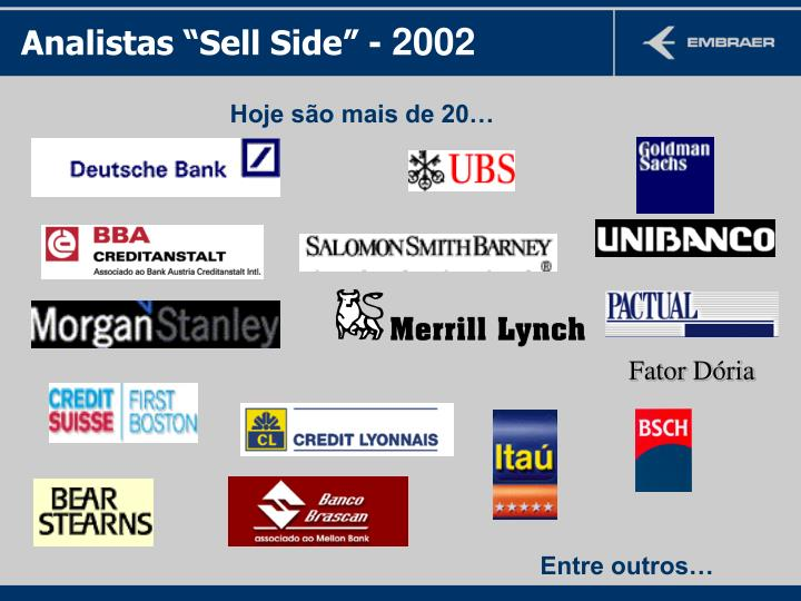 """Analistas """"Sell Side"""""""