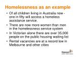 homelessness as an example1