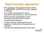 social inclusion approaches