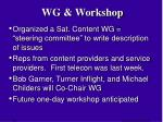 wg workshop