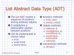 list abstract data type adt