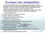 euroopa liidu r ndepoliitika
