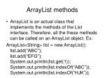 arraylist methods1