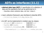 adts as interfaces 11 1