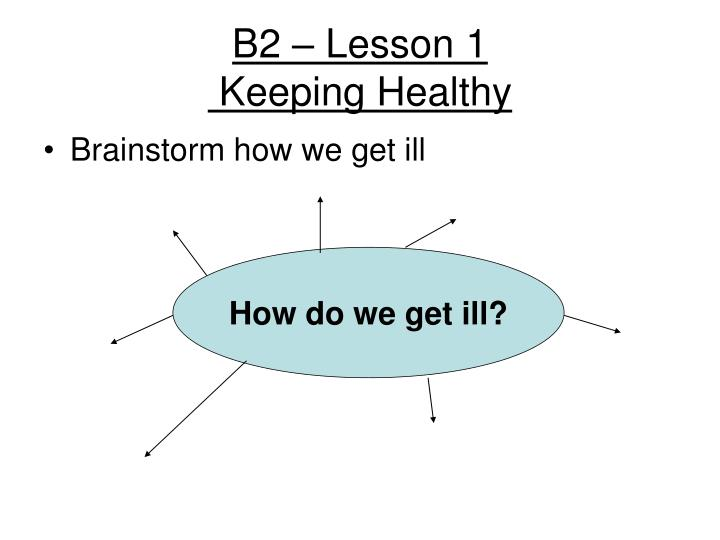 b2 lesson 1 keeping healthy n.