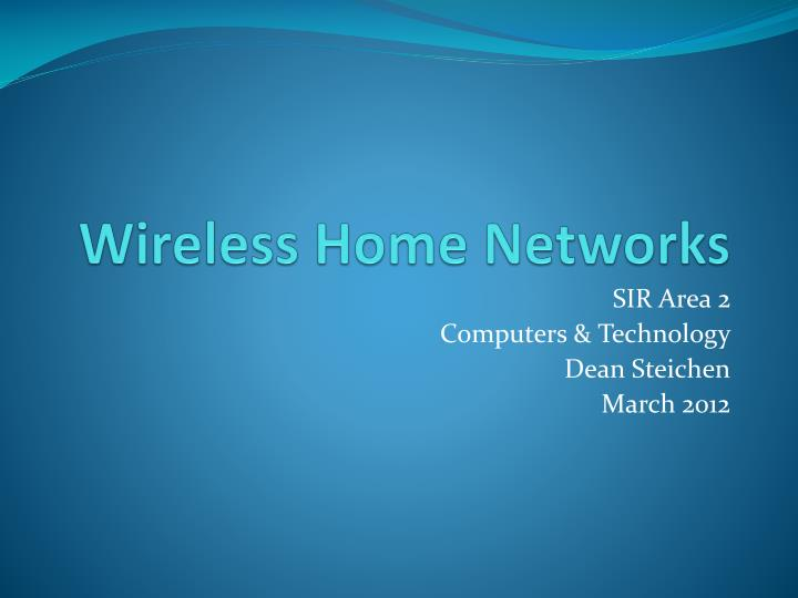 wireless home networks n.