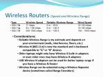 wireless routers speed and wireless range