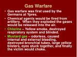 gas warfare