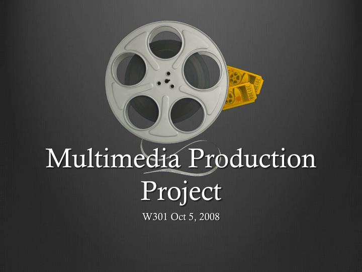 multimedia production project n.