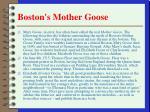 boston s mother goose