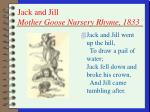 jack and jill mother goose nursery rhyme 1833