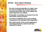 apvis axis patent pending