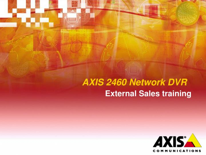 axis 2460 network dvr n.
