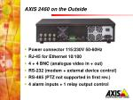 axis 2460 on the outside