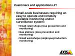 customers and applications 1