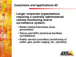 customers and applications 2