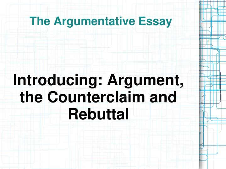 the argumentative essay n.