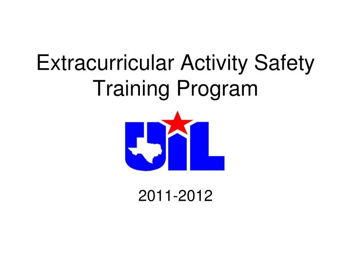 extracurricular activity safety training program n.