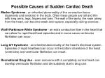 possible causes of sudden cardiac death1