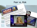 fear vs risk