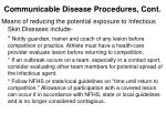 communicable disease procedures cont1
