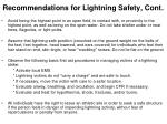 recommendations for lightning safety cont