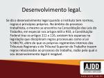 desenvolvimento legal