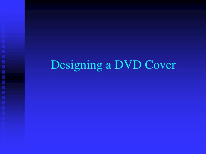 designing a dvd cover n.