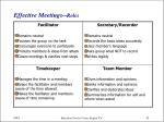 effective meetings roles