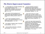 the district improvement committee
