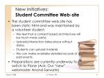 new initiatives student committee web site