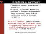 importance of community