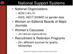 national support systems