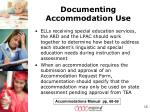 documenting accommodation use1