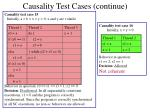 causality test cases continue6