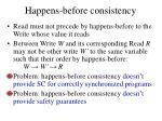 happens before consistency