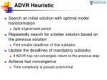 advr heuristic