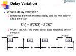 delay variation