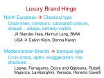 luxury brand hinge