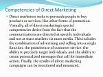 competencies of direct marketing