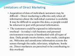 limitations of direct marketing